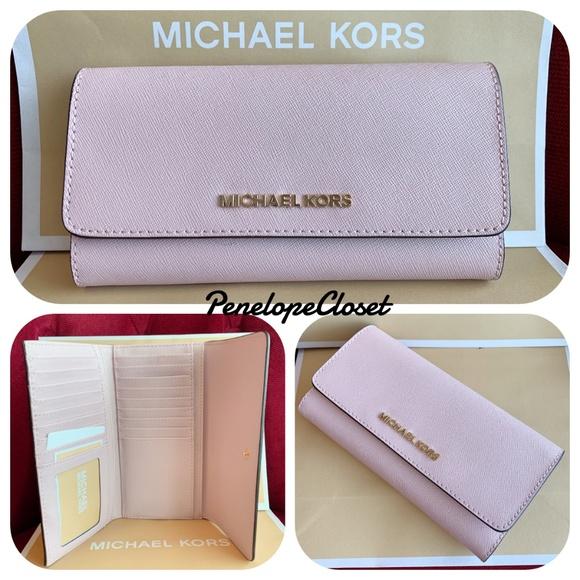 027c76ca3847 MICHAEL Michael Kors Bags   Michael Kors Jet Set Trifold Wallet ...